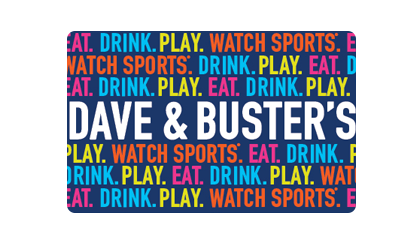 Dave & Buster's Gift Cards from CashStar