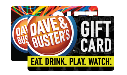 Dave busters gift cards from cashstar send them a gift card at home negle Image collections